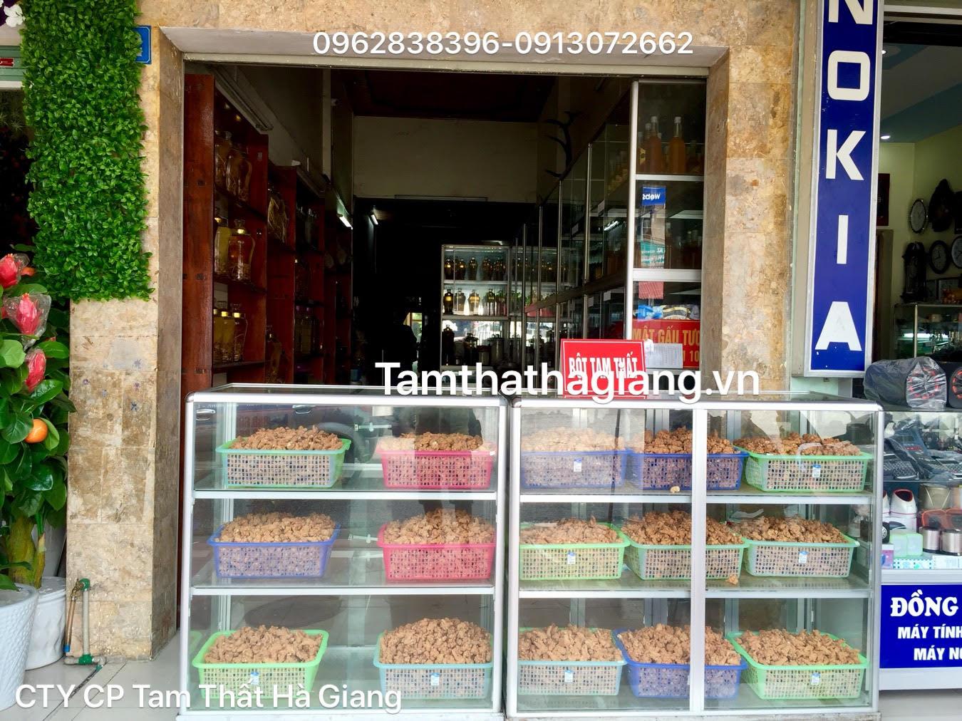Cửa hàng giới thiệu sản phẩm của công ty cp Tam Thất Hà Giang